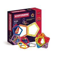 韩国 Magformers麦格弗儿童磁力片基础套组磁性拼装积木 12、14片