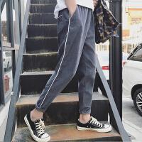 新款2018秋季男士休闲裤男韩版潮流宽松风长裤灯芯绒松紧哈伦裤