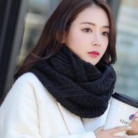 韩版秋冬季女士保暖加厚针织毛线围脖套头 学生冬天百搭原宿