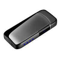 充电打火机USB悬空指纹感应双电弧个性创意刻字点烟器送男友礼物惊喜的礼物节日礼品