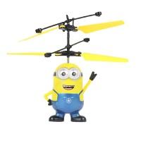 小黄人飞机充电手感应飞行器抖音悬浮遥控飞机直升机会飞儿童玩具