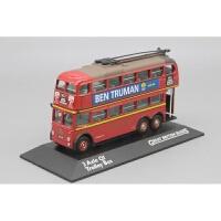 英国双层巴士模型车1:76 伦敦 无轨电车Trolley Bus公交客车品质定制新品 伦敦红色双层三轴版现货 12cm