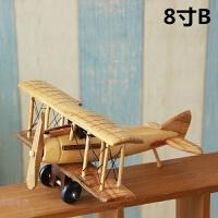 创意手工木质飞机模型 复古家居装饰摆件 新房饰品 工艺礼品