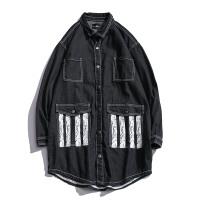男士牛仔外套中长款潮流牛仔服韩版宽松ins街头风帅气大码bf夹克