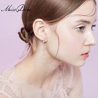 长款流苏耳坠女花朵耳环个性小清新耳饰品复古耳线