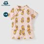 【2件3.8折】迷你巴拉巴拉新生儿和尚服纯棉短袖套装夏季初生婴儿衣服