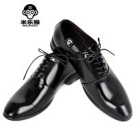 米乐猴 尖头皮鞋男男士夜店发型师商务休闲鞋学生婚鞋简约百搭款