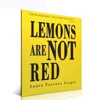 英文原版绘本 Lemons Are Not Red 柠檬不是红色的 洞洞书 玩转颜色 镂空设计 用颜色冠词动名词绘本