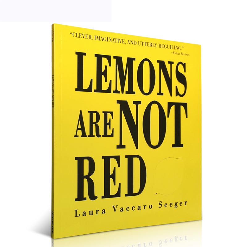 英文原版绘本 Lemons Are Not Red  柠檬不是红色的 洞洞书 玩转颜色 镂空设计 用颜色冠词动名词绘本 儿童认知启蒙学习 张湘君英文图画书轻松教
