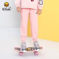 【4折价:99.6】B.duck小黄鸭童装女童裤子新款儿童休闲运动裤纯棉长裤BF3063902