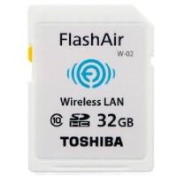 TOSHIBA/东芝 32G FlashAir无线局域网嵌入式SDHC存储卡wifi Class10 相机卡
