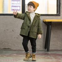 冬季1儿童2冬天3衣服4秋冬装5男童棉衣外套6加绒7加厚宝宝小孩棉袄8岁秋冬新款 军绿色