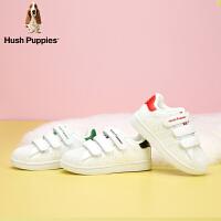 【双12狂欢3折价:149.4元】暇步士Hush Puppies童鞋经典贝壳头小白鞋儿童运动鞋男女童撞色学生板鞋中大童