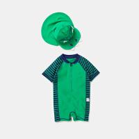 迷你巴拉巴拉儿童泳装男童连体泳衣小孩泳装夏季新款泳衣可爱泳帽