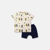 夏装新款婴儿PP裤男儿童短袖纯棉卡通T恤宝宝