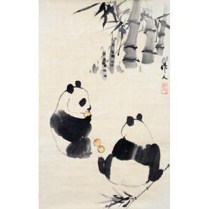 L260吴作人《熊猫》
