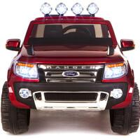 创意新款儿童车可坐人儿童电动车童车时尚拉风皮卡车四轮玩具汽车双驱四驱双座位童车带遥控越野电动车