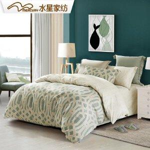【每满150减50】水星家纺磨毛纯棉四件套加厚被套全棉床单四件套冬季双人