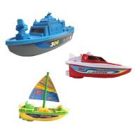 新款电动船非遥控快艇帆船海盗船宝宝洗澡泳池戏水儿童电动船玩具 帆船++ 官方标配