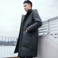 男士羽绒服男中长款过膝大衣2018冬装韩版加厚修身青年潮外套