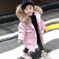 宝宝羽绒女1-3岁冬2韩版洋气加厚棉袄婴儿女童棉衣外套中长款