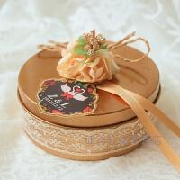 个性定制手工蕾丝欧式结婚礼马口铁喜糖盒子创意婚庆糖果礼盒批�l礼品50装 满50个送个性定制姓名婚期卡片