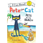 英文原版 Pete the Cat: Pete at the Beach 皮特猫 I can read 1分级读物 儿