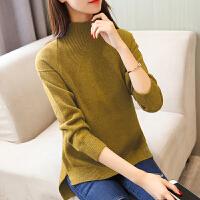 秋冬半高领插肩袖毛衣韩版新款套头加厚女士短款宽松长袖毛线衣服