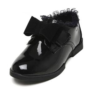 鞋柜/Pinkii苹绮 女童皮鞋时尚潮流大童女童鞋蝴蝶结儿童鞋