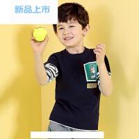 童装男童长袖T恤秋装中大儿童体恤上衣2017新款条纹韩版