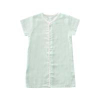男女宝宝睡袍袖婴儿睡衣半袖浴袍薄款