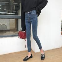 秋冬150 155cm小个子女装矮个子学生S小码高腰紧身牛仔裤学生长裤