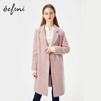 伊芙丽冬装新款韩版时尚女装中长款羊毛毛呢外套1171123370831