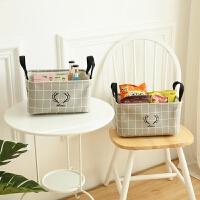 北欧收纳筐桌面布艺整理筐可折叠衣柜储物篮整理盒篮