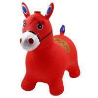 儿童跳跳马充气马玩具宝宝木马加厚跳跳鹿小马坐骑马1-3岁男女孩