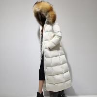 yaloo/雅鹿冬装韩版长款大毛领羽绒服女士保暖外套