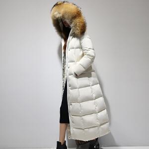 【一件三折 到手价:377.7】yaloo/雅鹿冬装韩版长款大毛领羽绒服女士保暖外套
