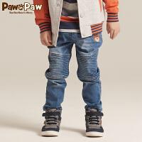 【2件2.5折 到手价:125】Pawinpaw宝英宝卡通小熊童装秋季款男童牛仔裤