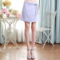 春装新品 高腰纯色包臀短裙腰带修身半身裙女D711039Q20