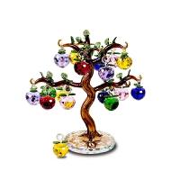 水晶苹果树摆件客厅电视酒柜创意结婚礼物家居小装饰品工艺礼物节日礼品