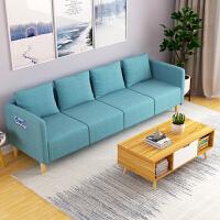 布艺沙发组合 客厅小户型沙发三人位移动沙发现代简约L型懒人沙发