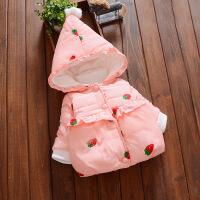 女宝宝冬装棉衣0-1-2-3岁女童棉袄小童婴儿冬季羽绒服加绒 厚