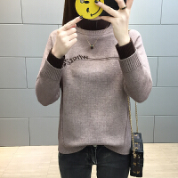 加厚女士毛衣2018新款韩版套头高领打底衫秋冬百搭宽松针织线衣潮