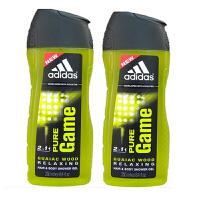 Adidas阿迪达斯男士沐浴露250ml 两支套装 荣耀7208