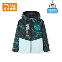 【到手价261】安踏童装2021新款外套男童跑步风衣外套商场同款352125643