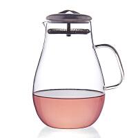 1900ml耐热玻璃 花草茶壶水滴果汁壶开水壶 家用凉水壶不锈钢盖花茶壶玻璃水壶果汁壶