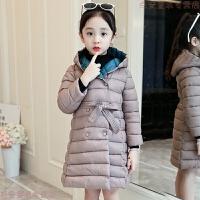 女童棉衣2018新款韩版儿童中长款加厚女孩棉袄中大童冬装外套
