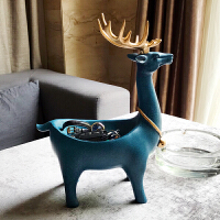 家居装饰品鹿摆件简约现代客厅鞋柜玄关门口钥匙收纳盒盘