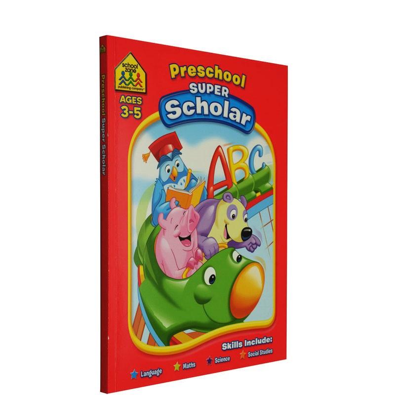 【3-5岁学霸练习】School Zone Super Scholar Workbooks Preschool 幼儿园早教家庭练习册合辑 英文原版