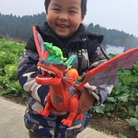儿童恐龙玩具套装霸王龙仿真动物塑胶电动男孩大号遥控恐龙模型女